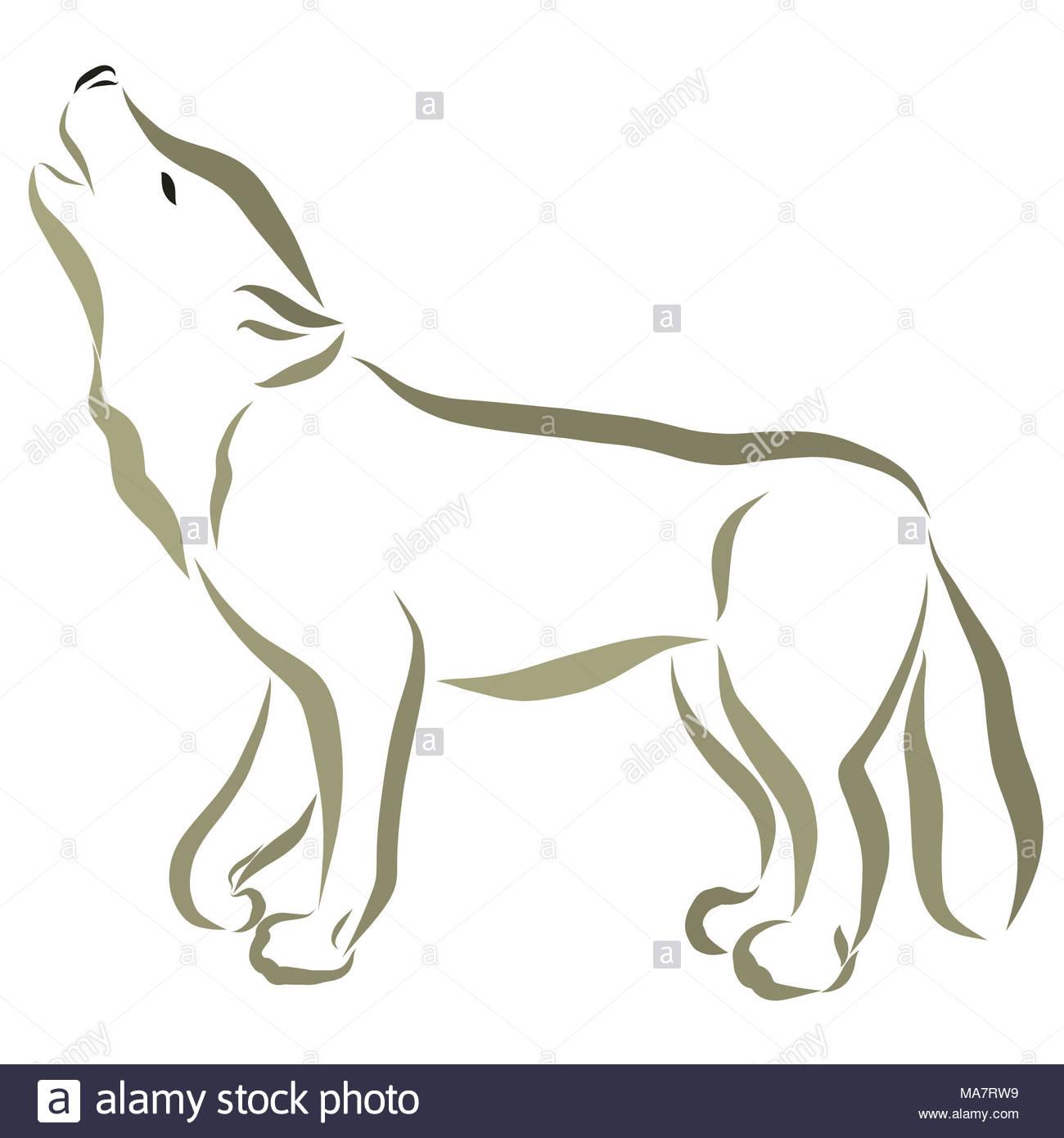 ausmalbild wolfskopf