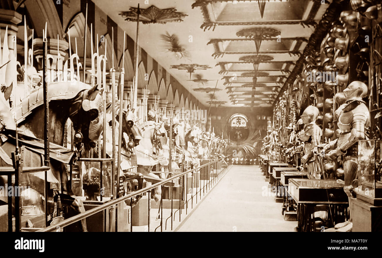 Horse Armoury,Tower of London, Victorian period - Stock Image