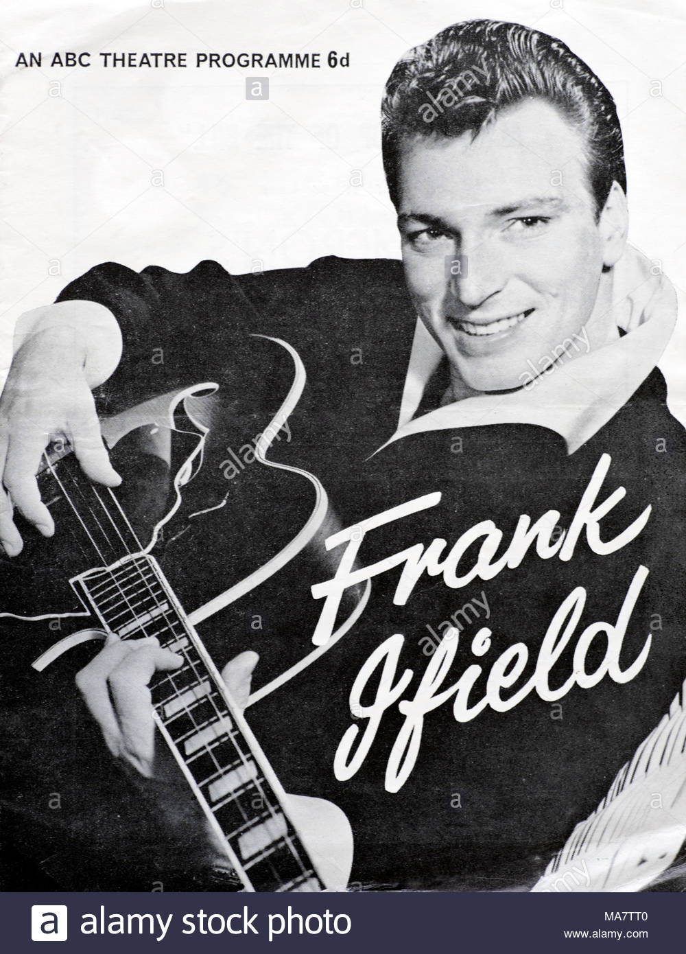 Frank Ifield show at the Globe Theatre, Stockton on Tees - 6th April 1964 tour programme - Stock Image