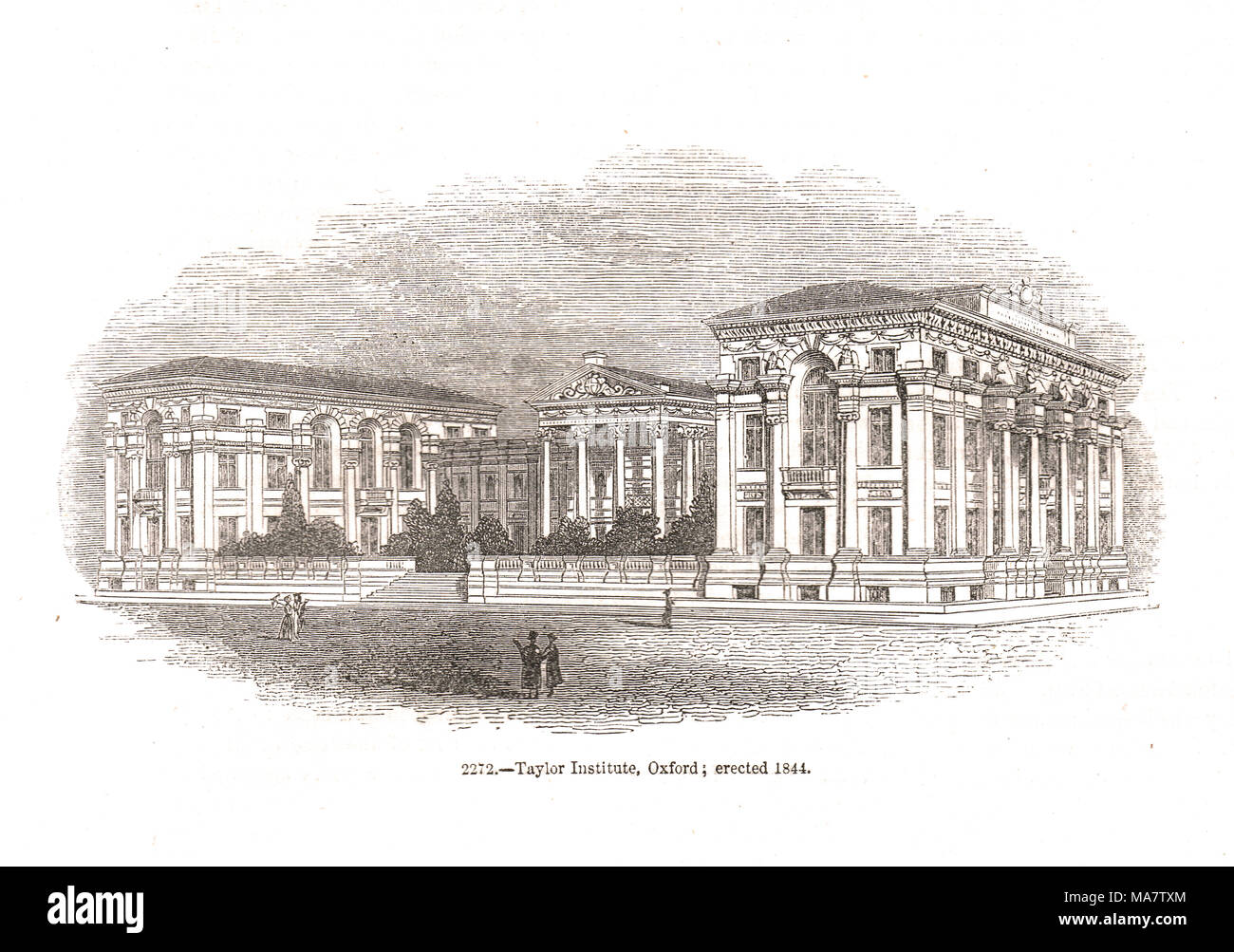 Ashmolean Museum and Taylor Institution, Beaumont Street, St Giles', Oxford, England, erected 1844 - Stock Image