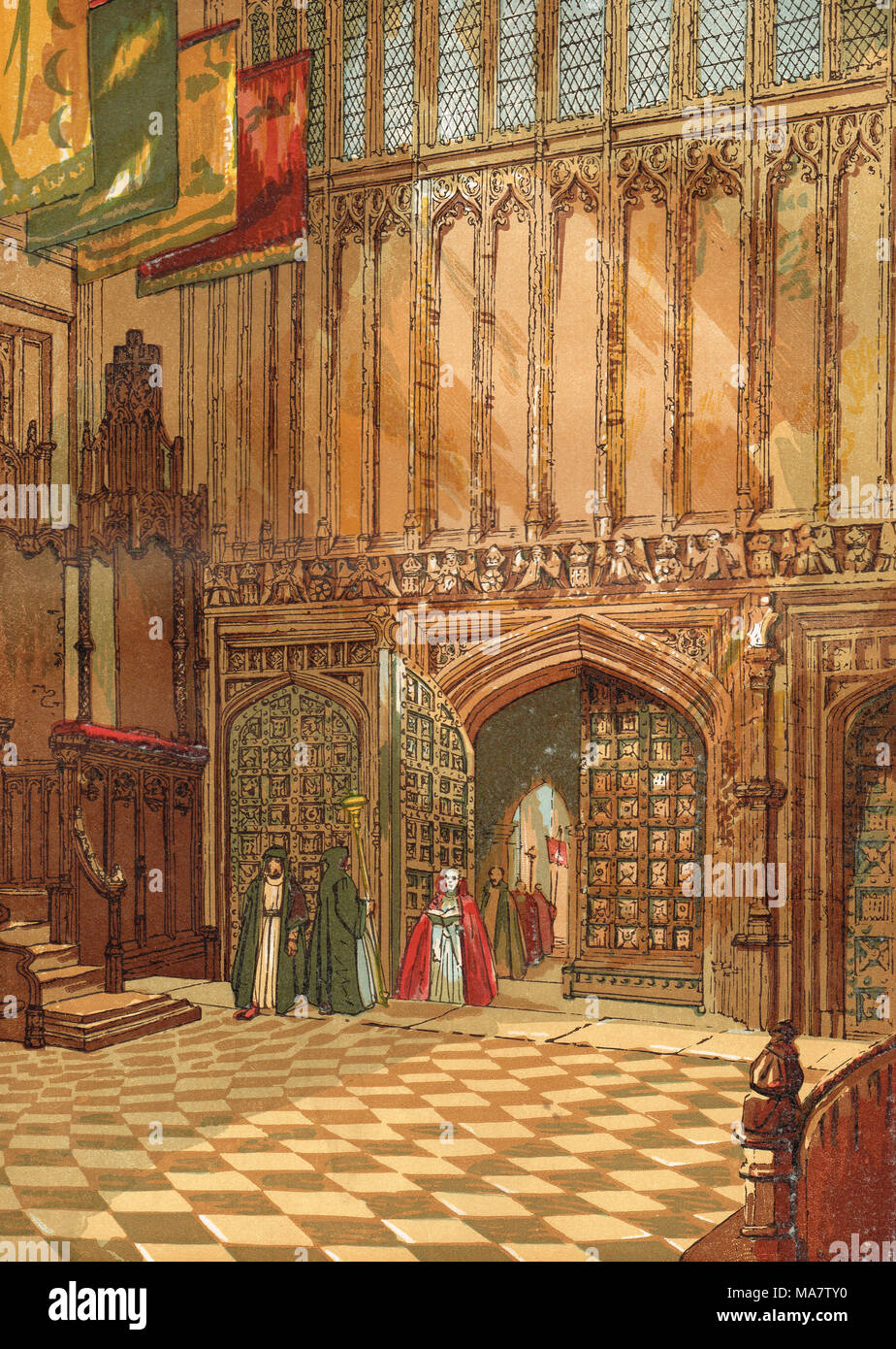 Henry VII Lady Chapel, Westminster Abbey, 19th century - Stock Image