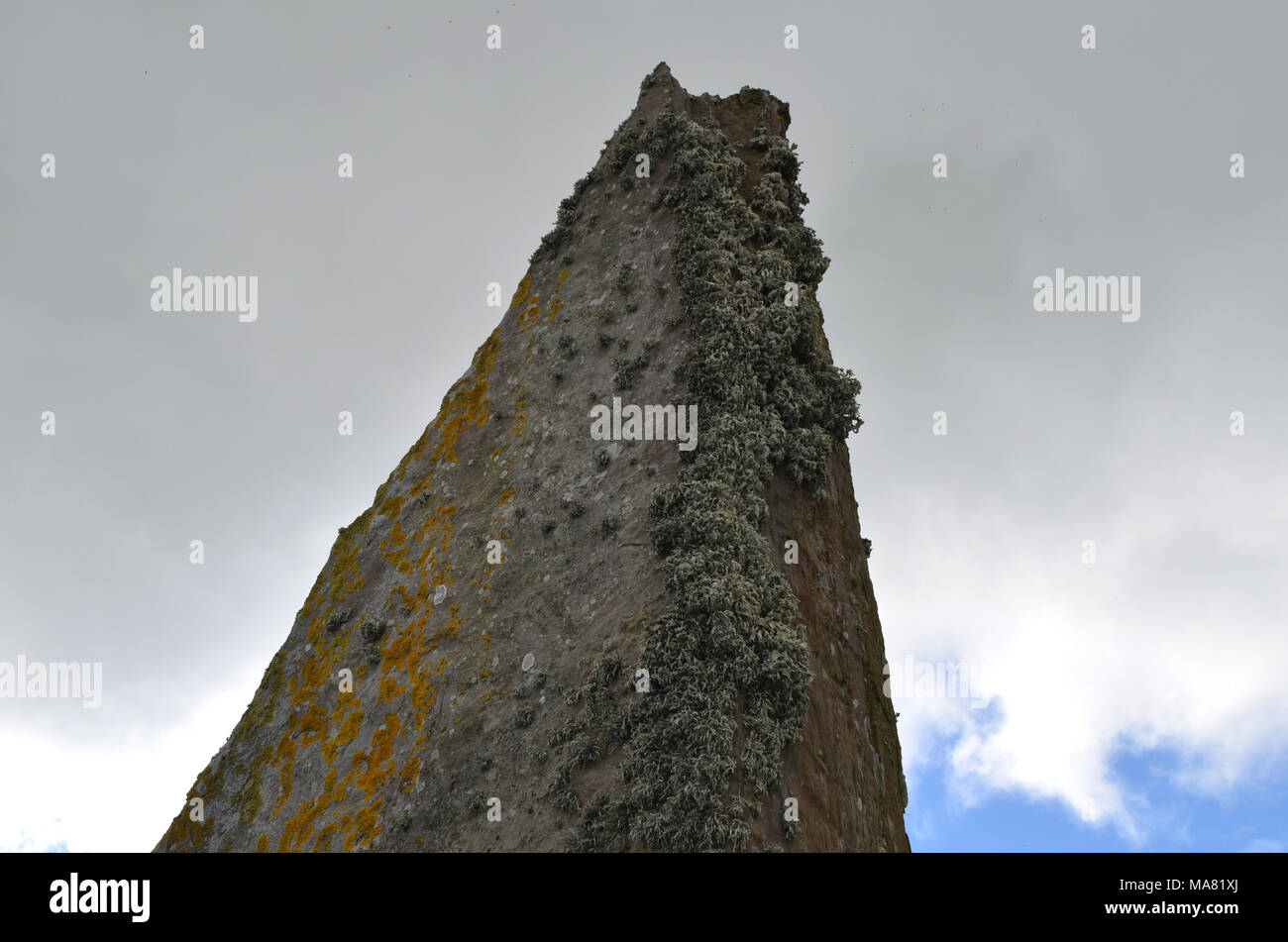 Neolithic Ring of Brodgar in the island of Mainland island, Orkney archipelago, Scotland Stock Photo