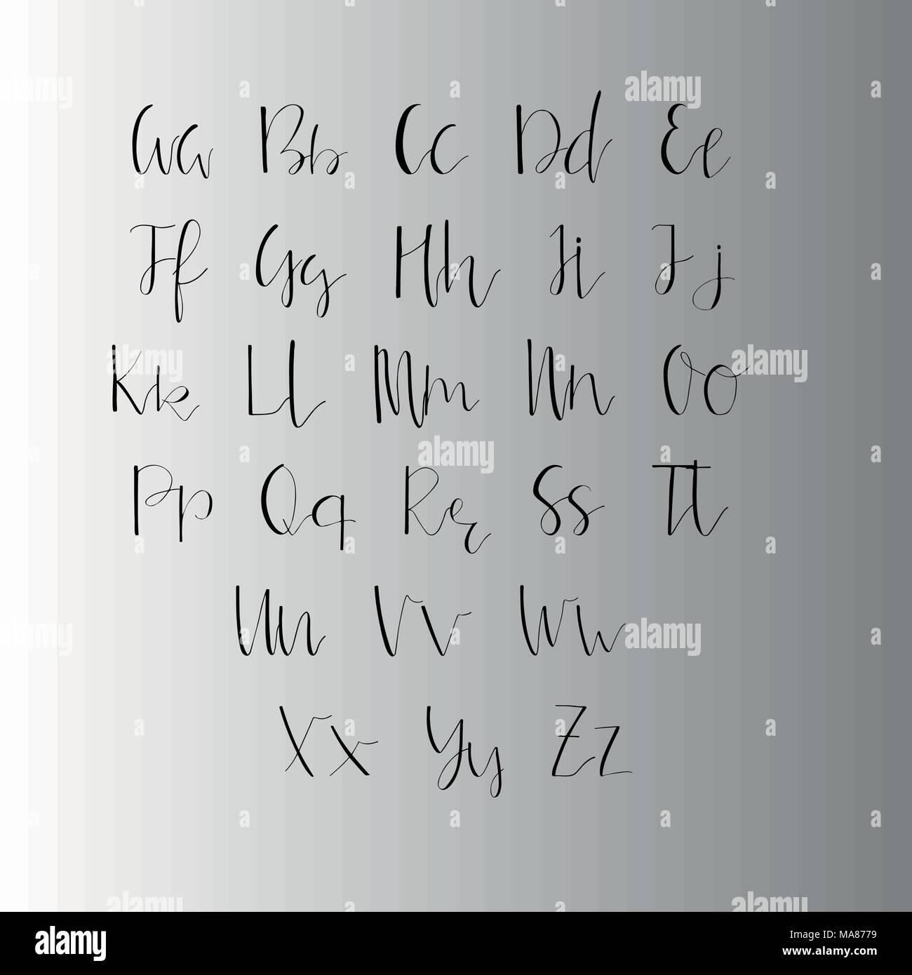 Handwritten calligraphy ink font unique alphabet isolated letters handwritten calligraphy ink font unique alphabet isolated letters can be used for wedding invitation menu save the date postcard poster decora stopboris Choice Image