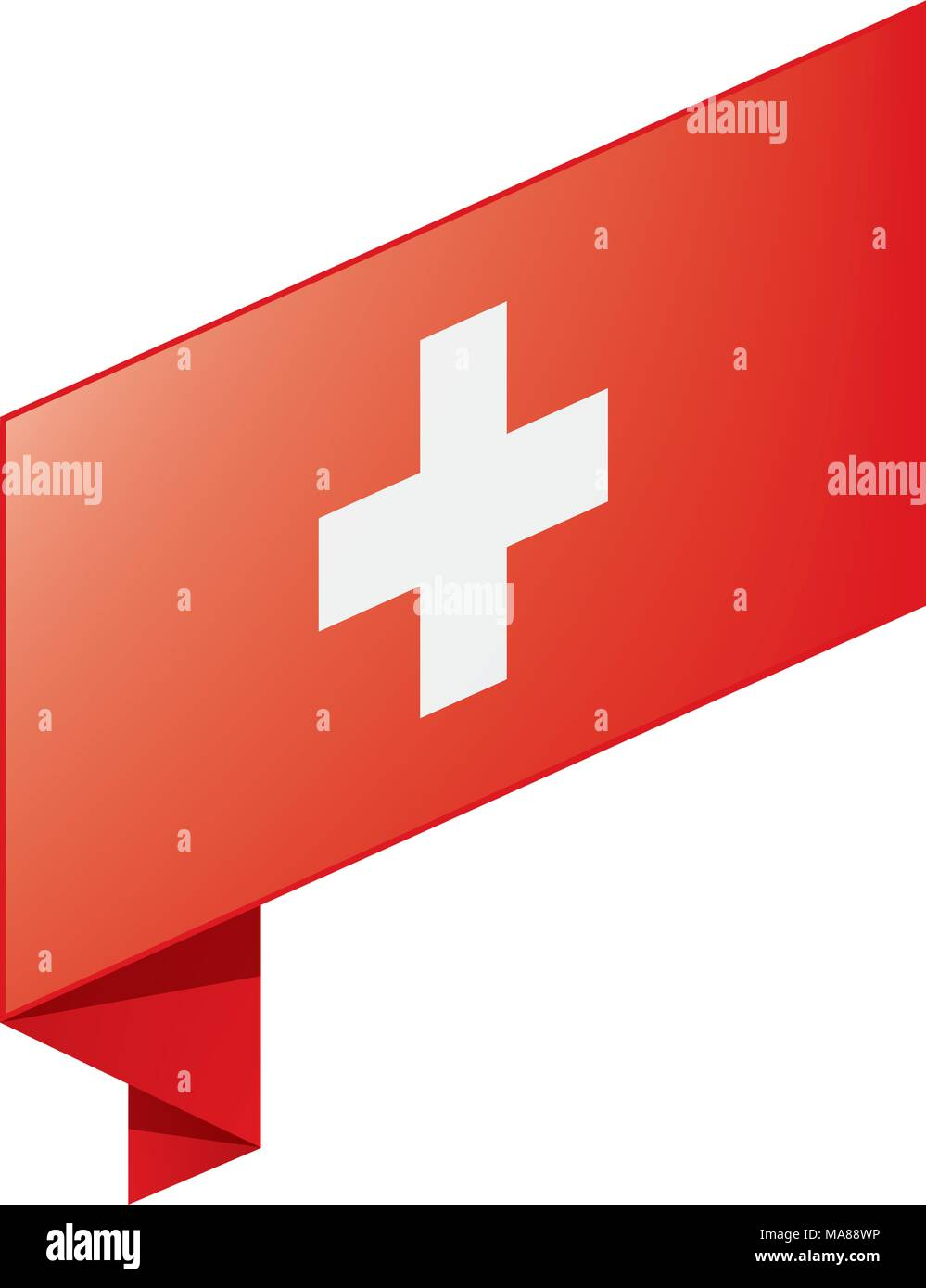 Switzerland flag, vector illustration - Stock Vector