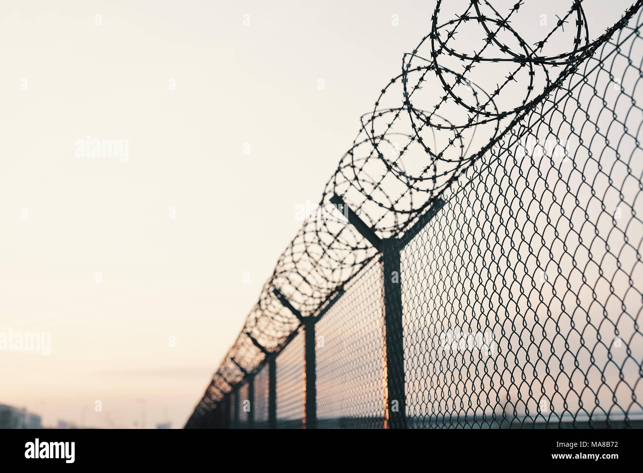 House Barbed Wire Stock Photos & House Barbed Wire Stock Images - Alamy