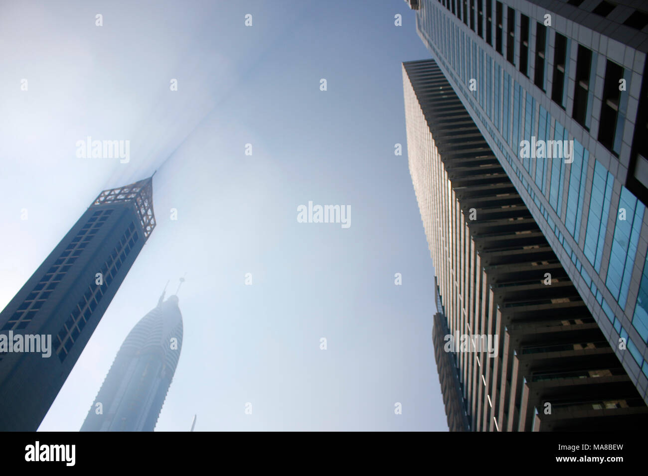 Impressionen: Wolkenkratzer, Downtown, Dubai. - Stock Image