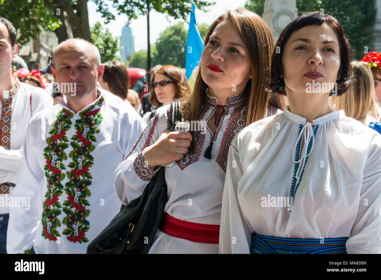 Ukrainians met at Downing St for the Vyshyvanka Embroidery