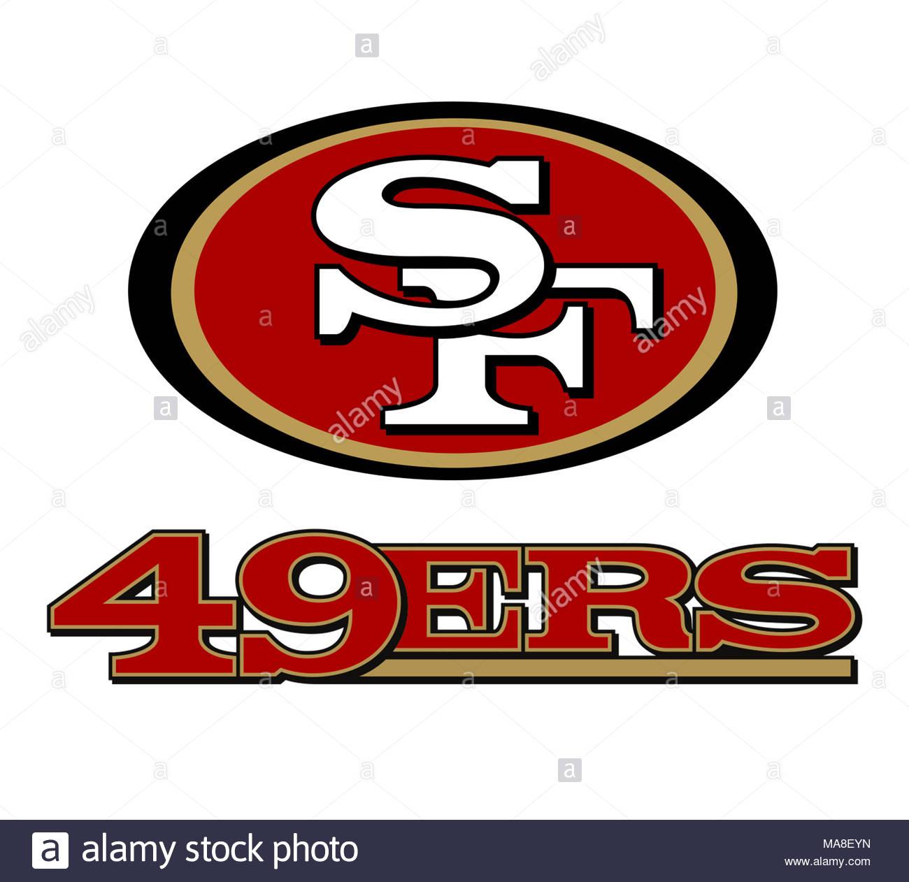 49ers stock photos   49ers stock images alamy Football Clip Art NFL Football Logos Clip Art