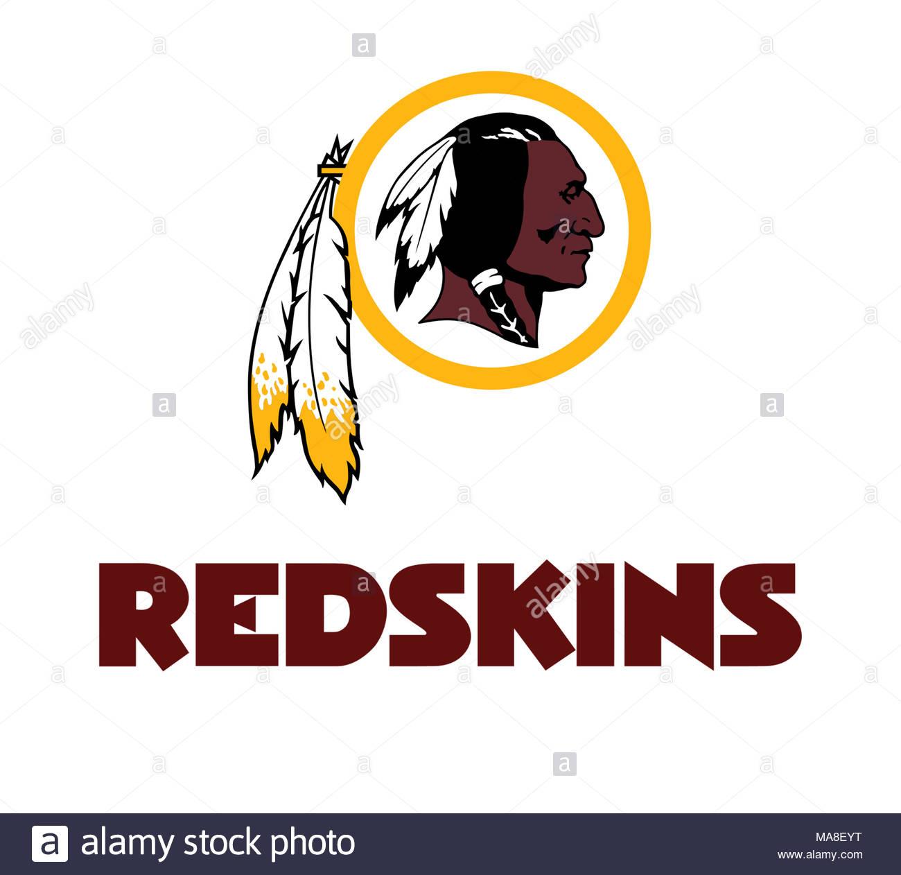 be811af52a9 Washington Redskins logo icon Stock Photo  178437612 - Alamy