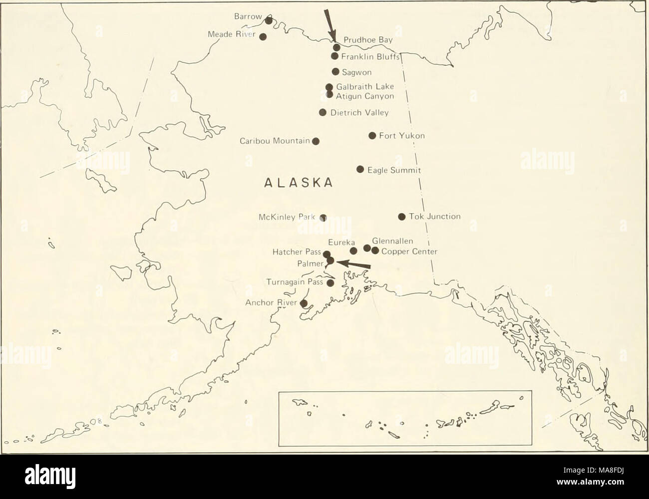 Prudhoe Bay Alaska Map.Ecological Investigations Of The Tundra Biome In The Prudhoe Bay