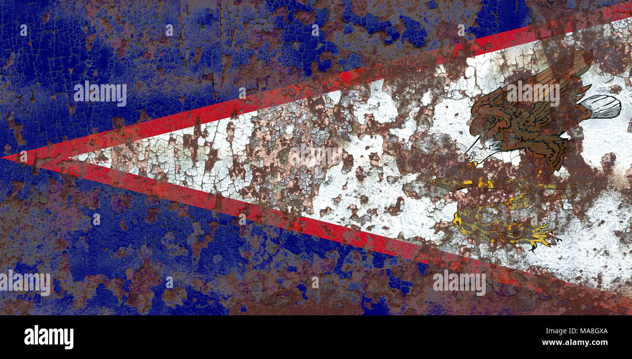 American Samoa grunge flag, United States dependent territory flag Stock Photo