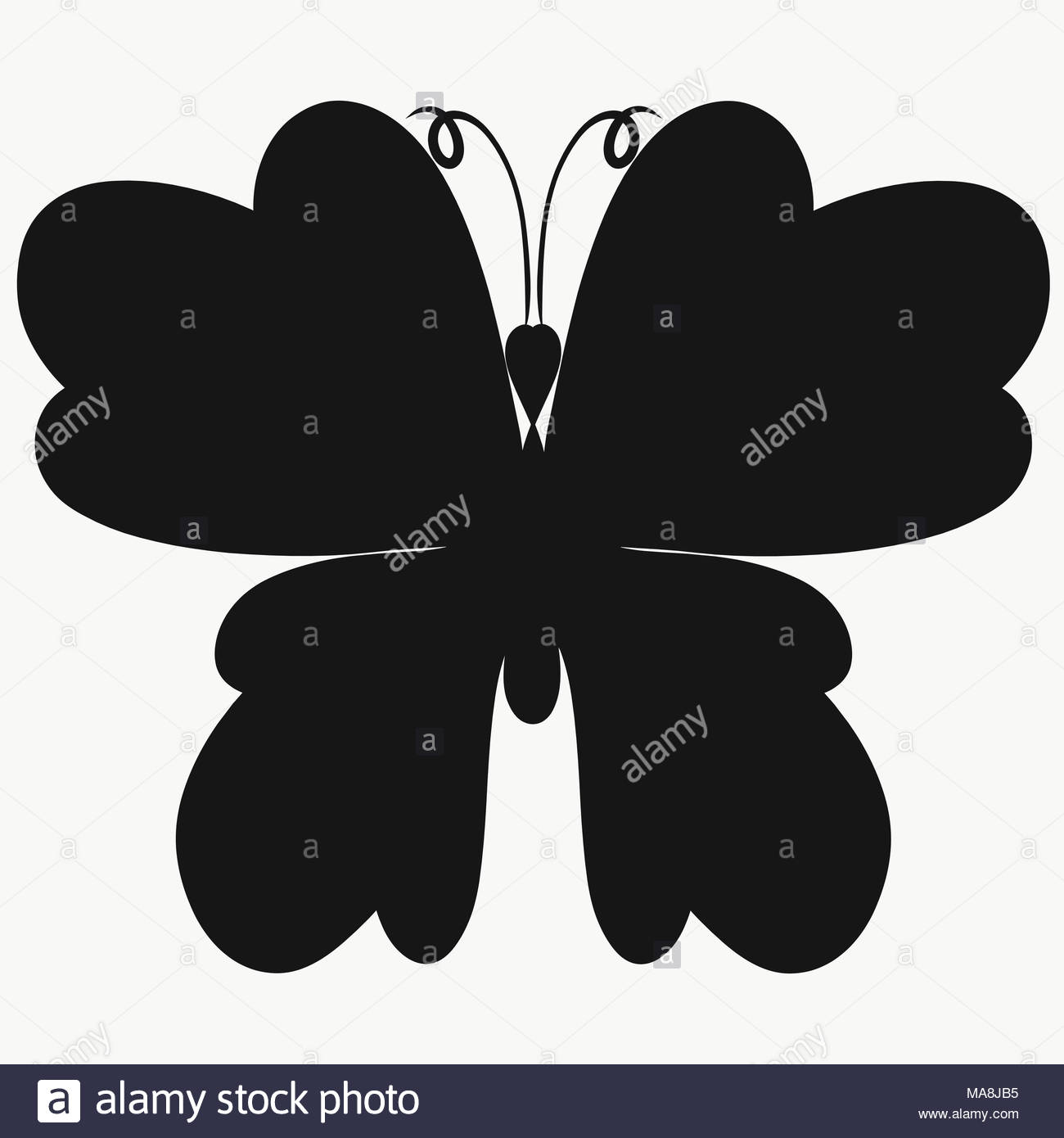 Butterfly as symbol for resurrection stock photos butterfly as silhouette of a beautiful butterfly stock image buycottarizona Images