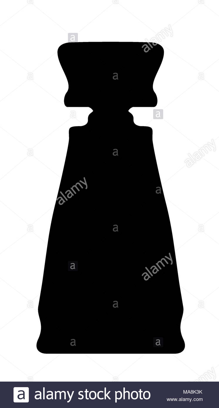 Black silhouette of a bottle with perfume - Stock Image