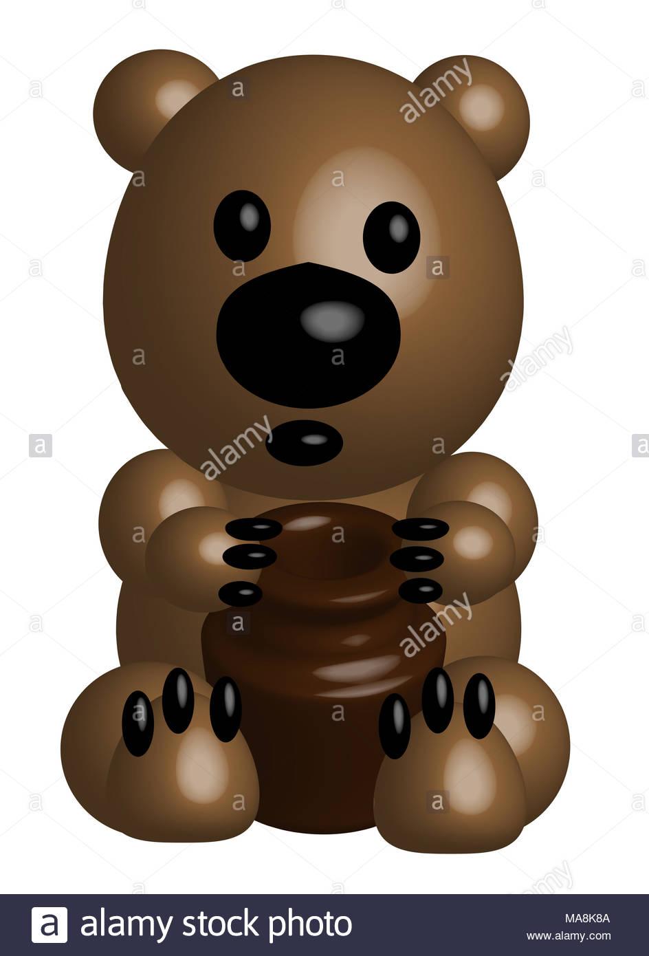 Cartoon Jar Honey Stock Photos Images Alamy Mps Whitehoney Bear With A Pot Of 3d Image