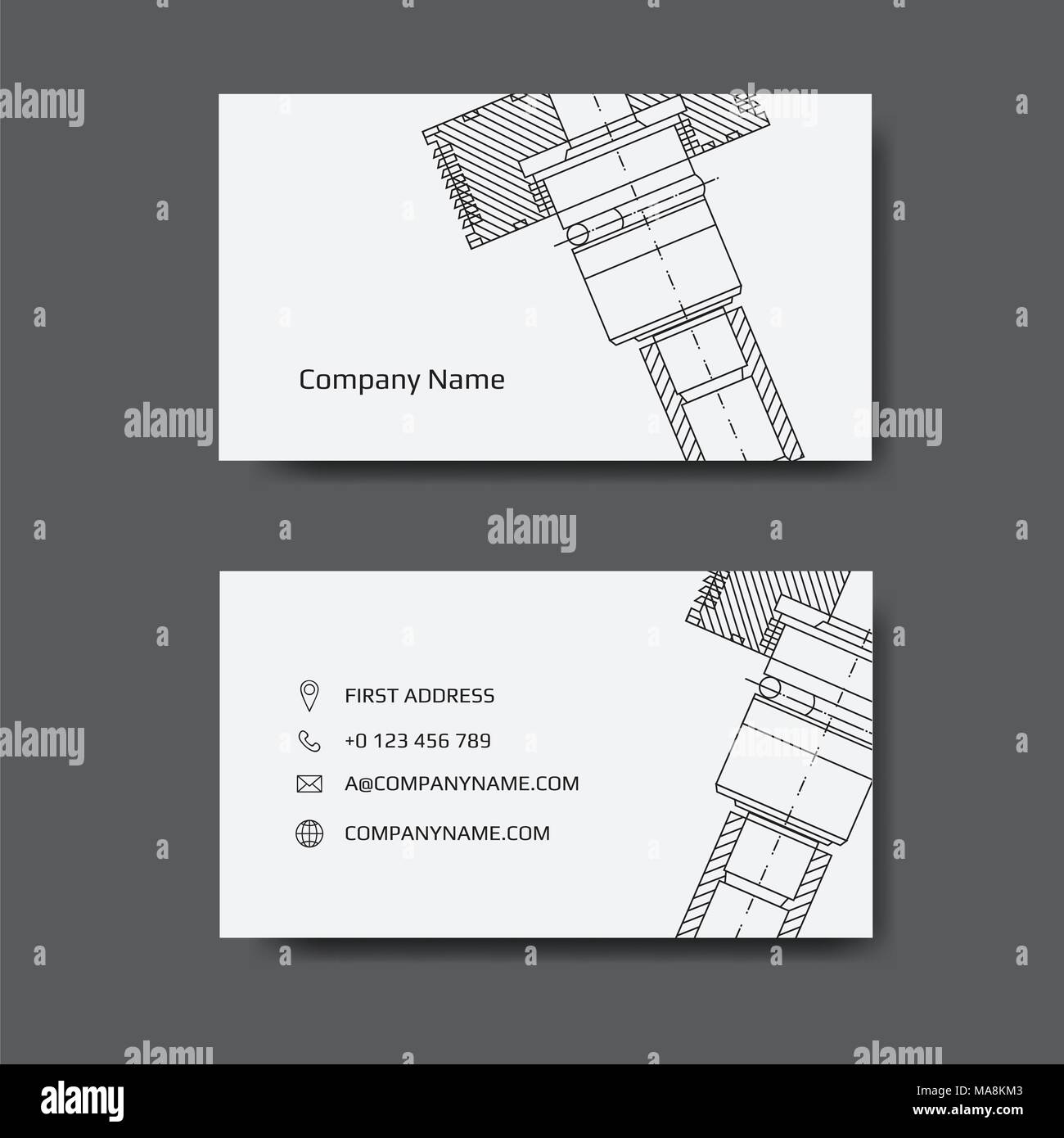 business card for engineer and Mechanical. Engineering business card ...