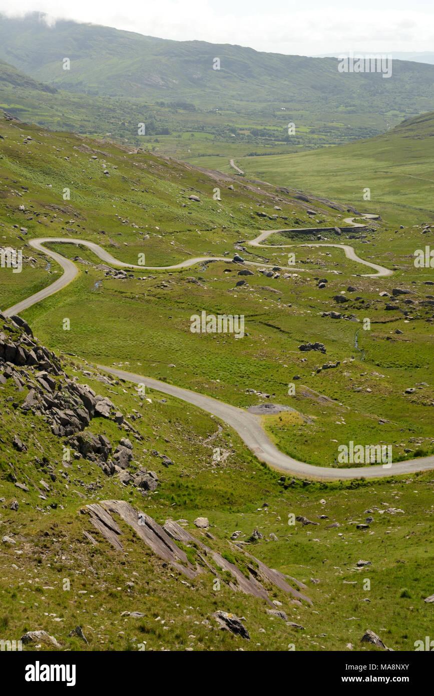 The Tim Healy Pass on Beara Peninsula, West Cork, Ireland - Stock Image