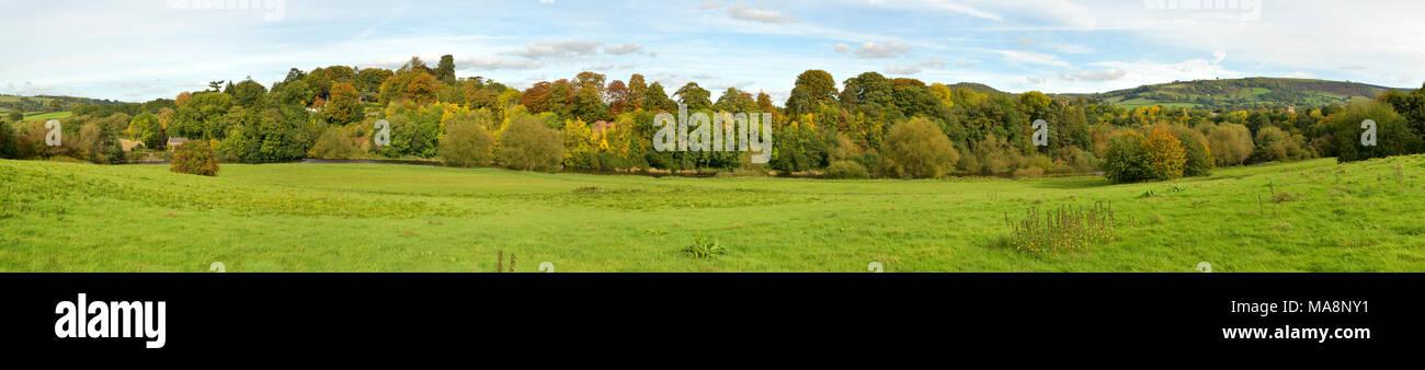 The Warren Panorama, Hay on Wye - Stock Image