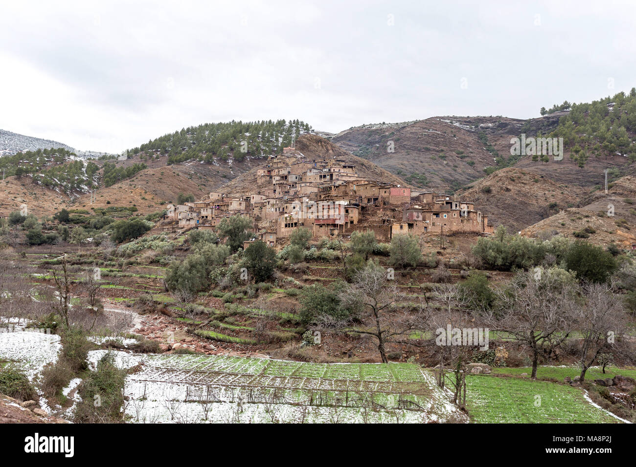 Visit to Ourika Valley, Atlas mountains, Morroco - Stock Image