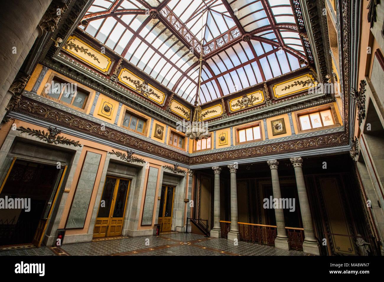 Inside historic Teatro Juarez, Zona Central, Guanajuato, Mexico Stock Photo