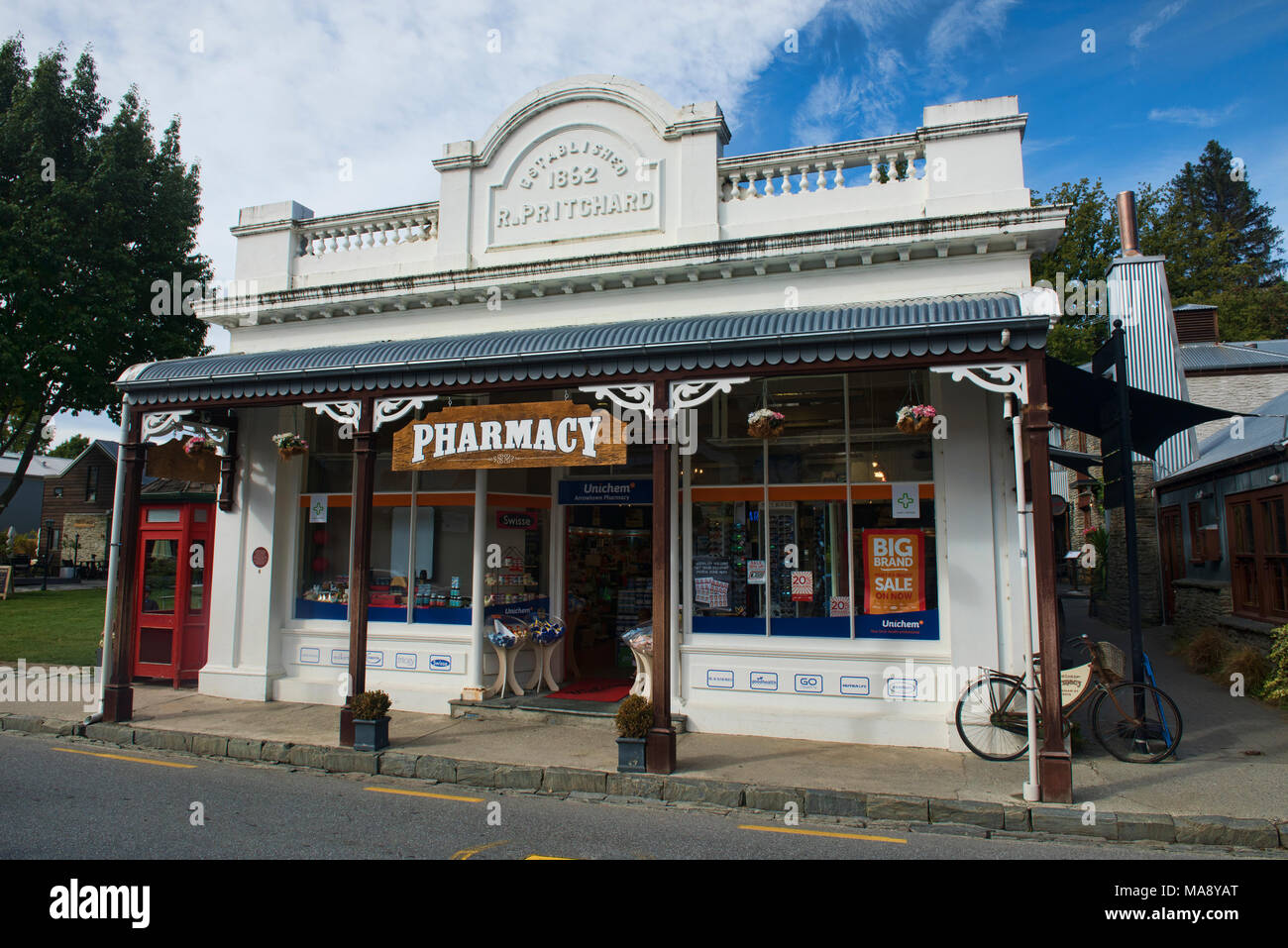 Old building in historic Arrowton, Otago, New Zealand Stock Photo