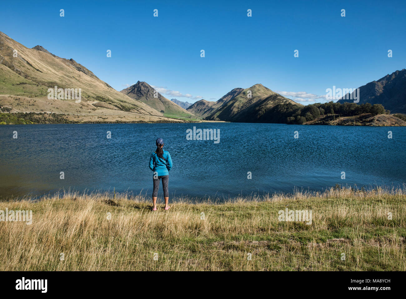 Tranquil Moke Lake near Queenstown, New Zealand - Stock Image