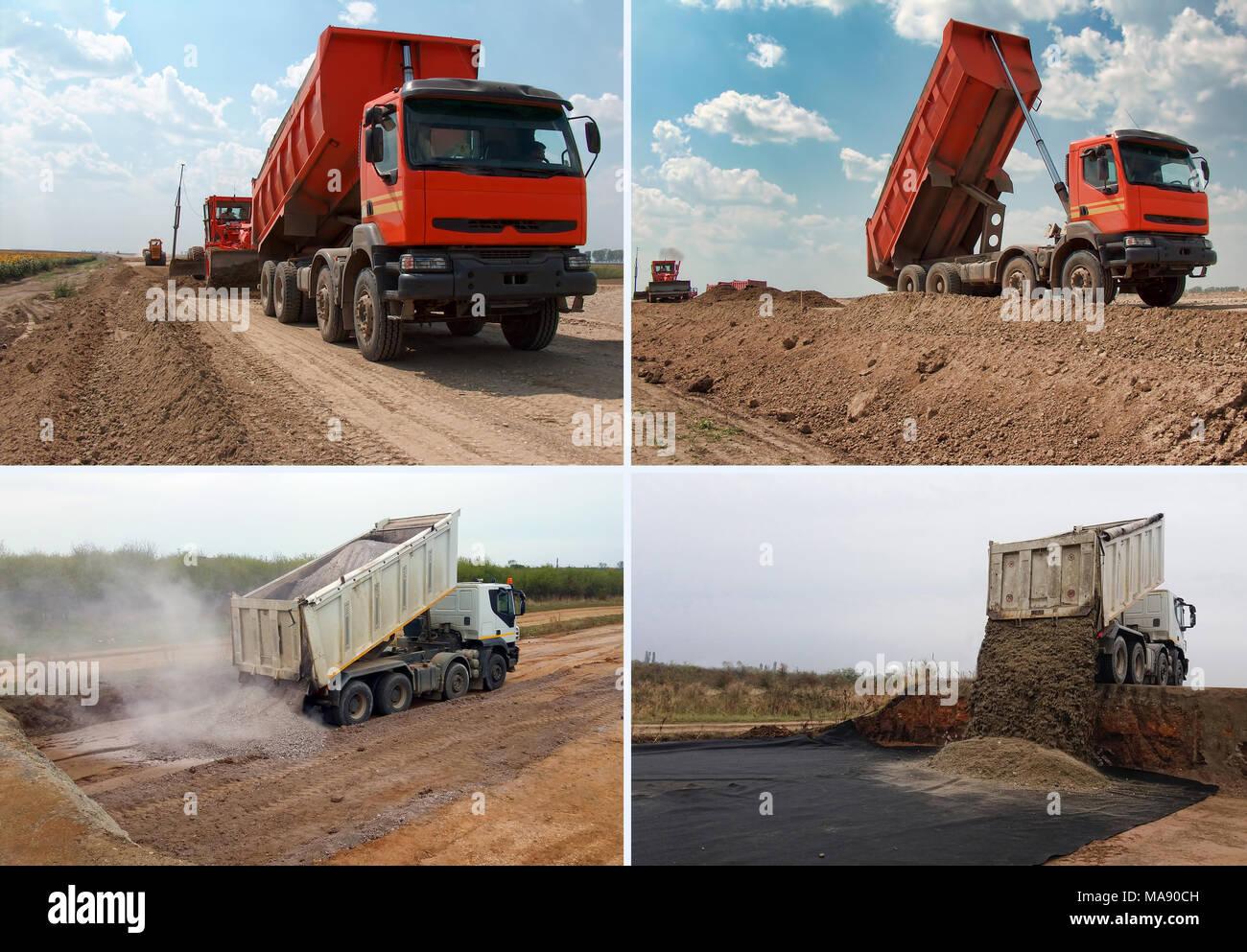 Set of truck - Stock Image