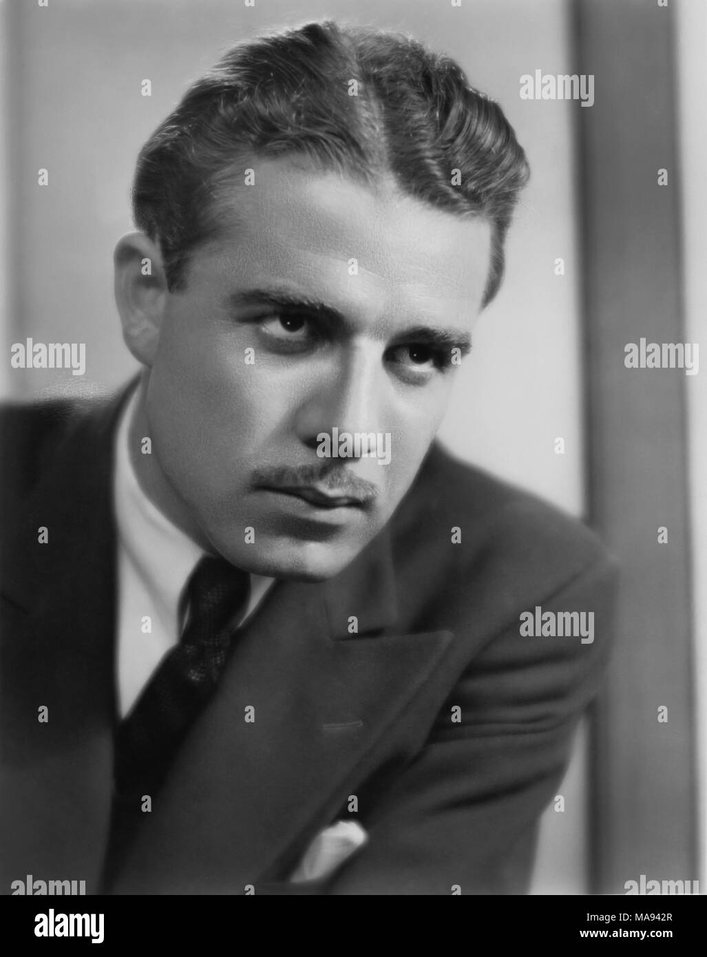Onslow Stevens, Publicity Portrait for the Film, 'Once in a Lifetime', Universal Pictures, 1932 - Stock Image