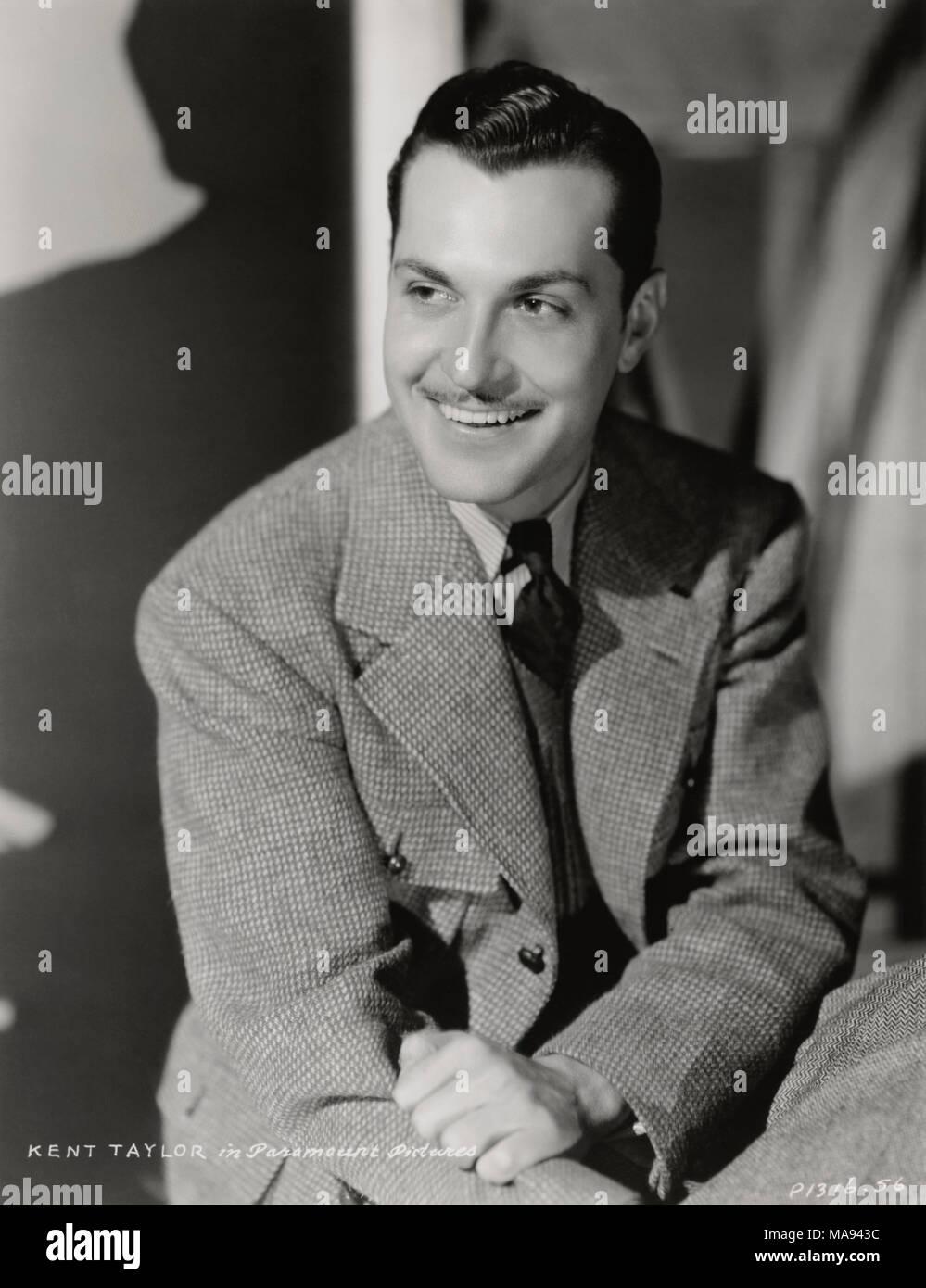 Actor Kent Taylor, Publicity Portrait, Paramount Pictures, 1930's - Stock Image
