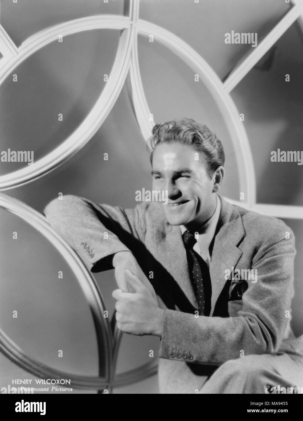 Actor Henry Wilcoxon, Publicity Portrait, Paramount Pictures, 1930's - Stock Image