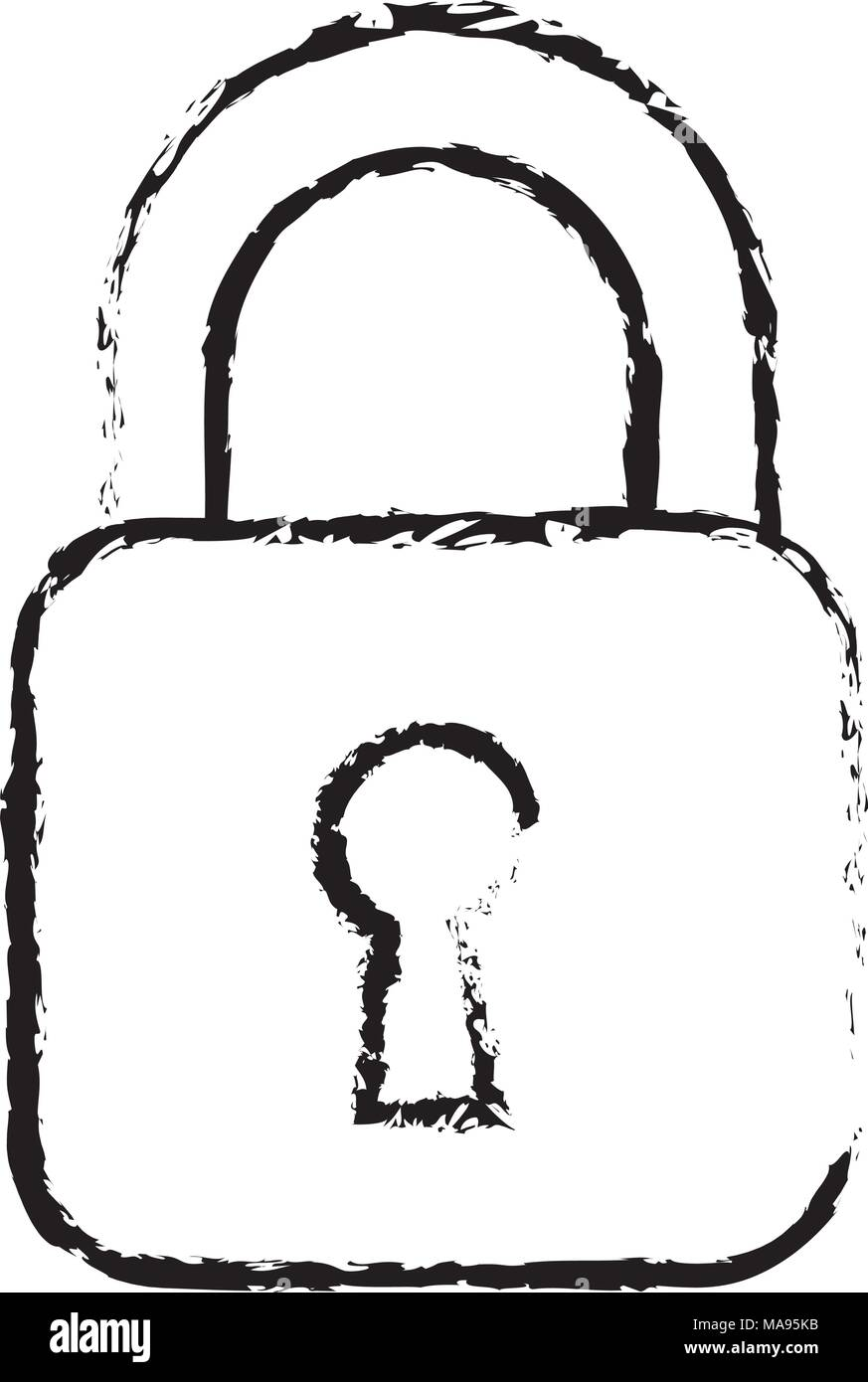security padlock business technology protection image - Stock Image