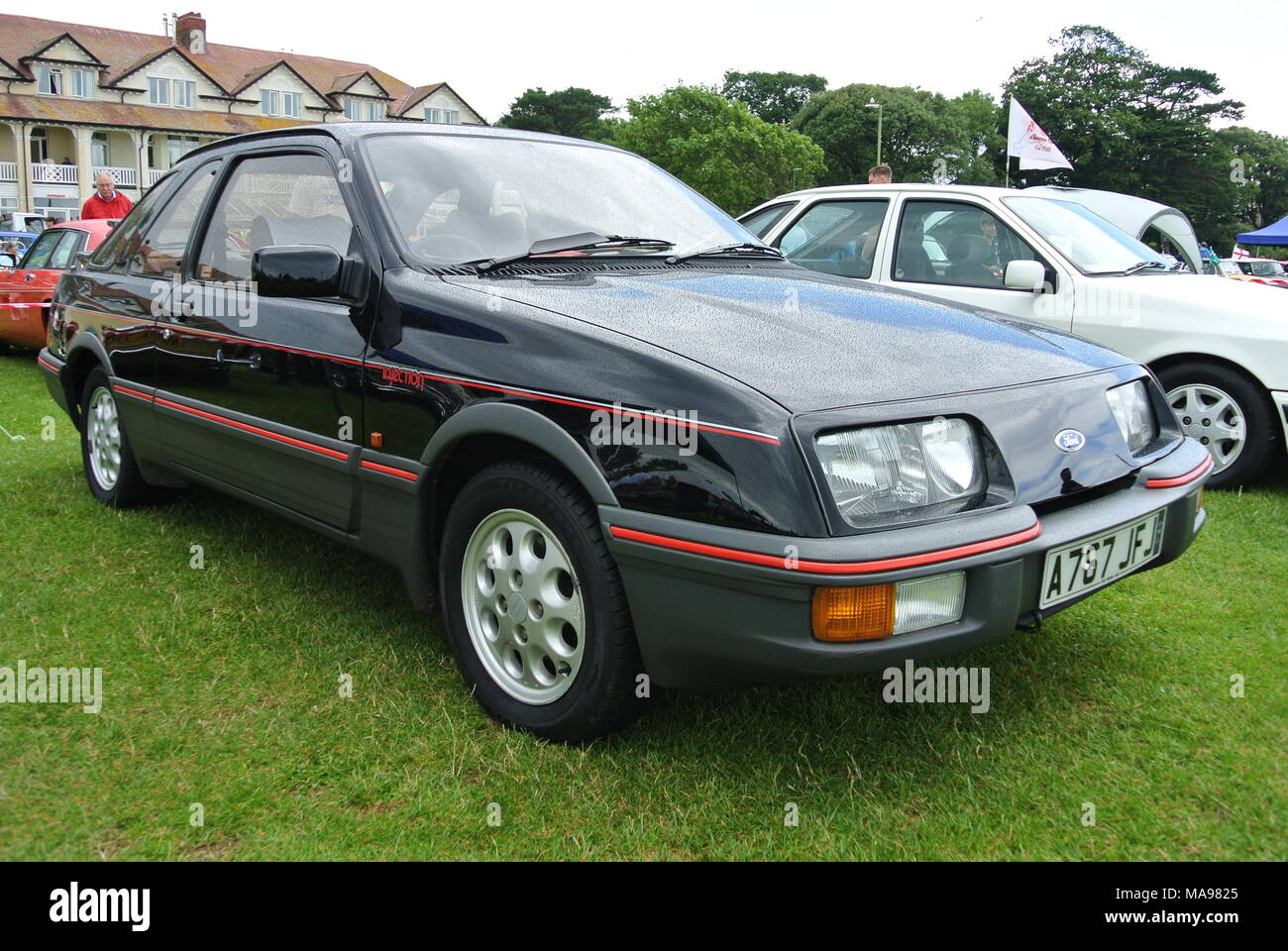 Ford Sierra XR4i parked on display at English Riviera classic car ...