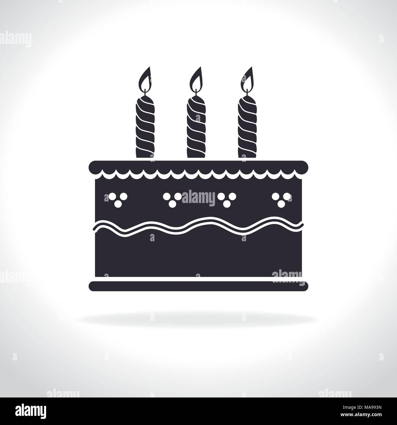 Happy Birthday Cake Dessert Graphic Design Vector Illustration Eps10