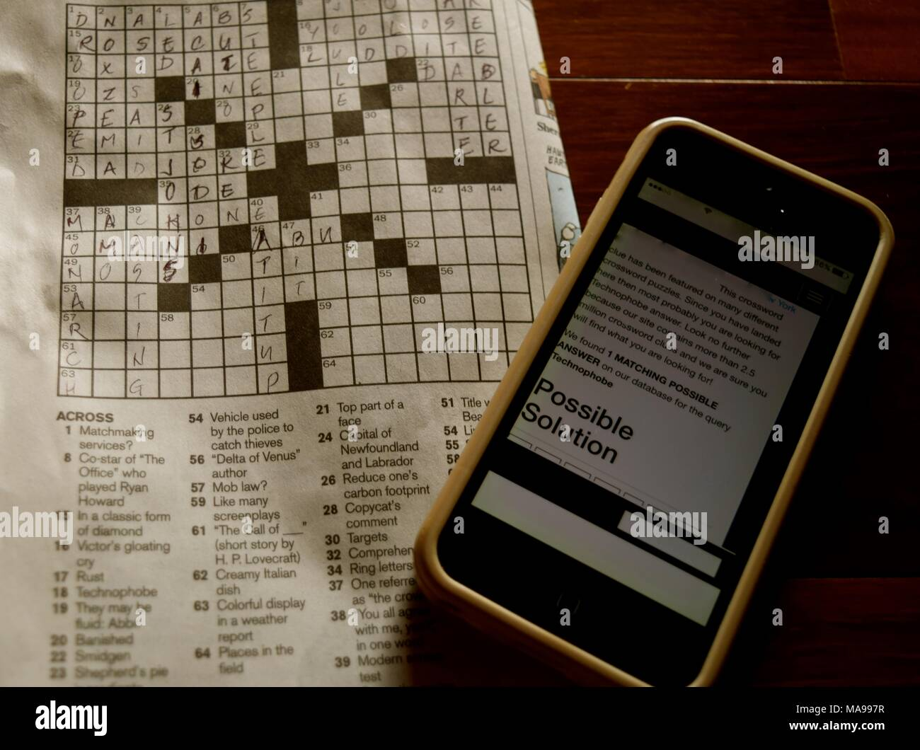 To Solve The Daily Crossword Puzzle I Use My Smartphone For