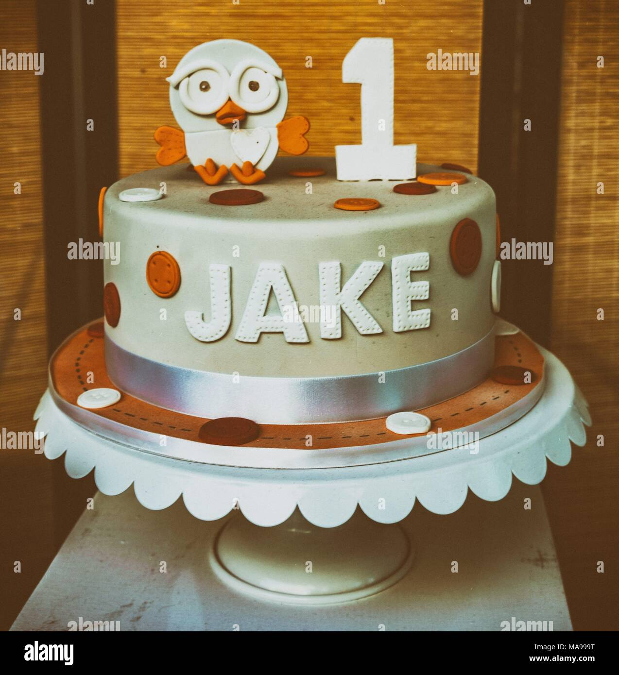 Superb Birthday Cake With The Name Jake Stock Photo 178455140 Alamy Funny Birthday Cards Online Alyptdamsfinfo