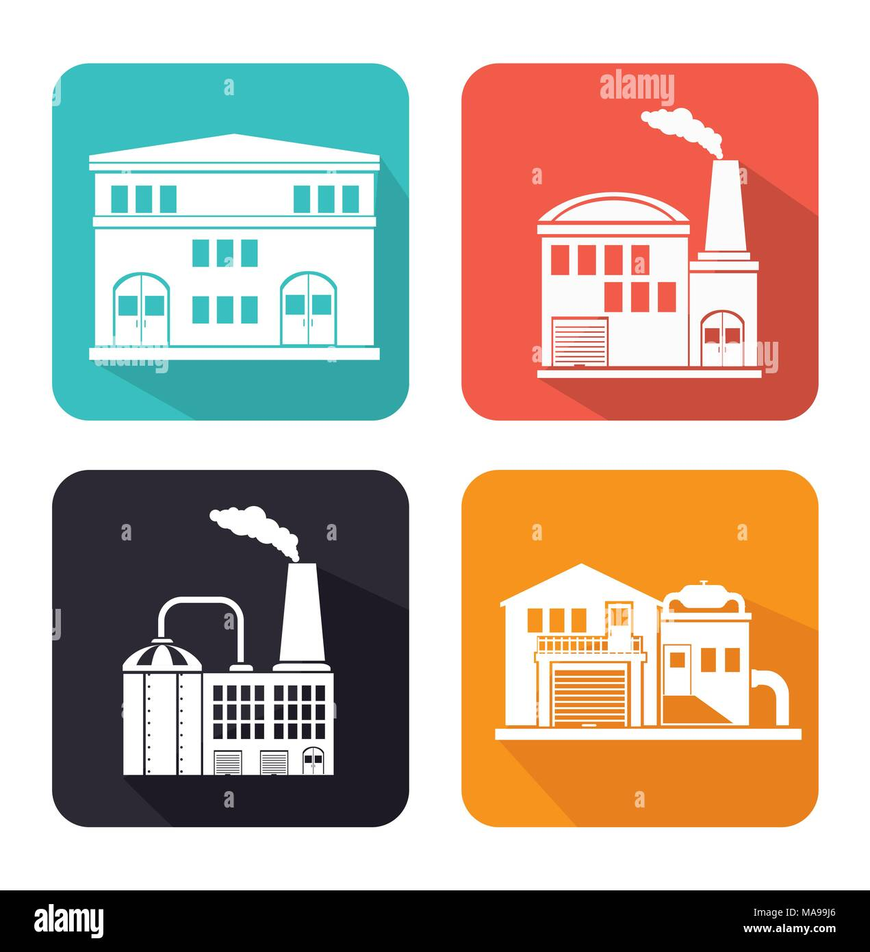 Factories and industries graphic design, vector illustration eps10 - Stock Image