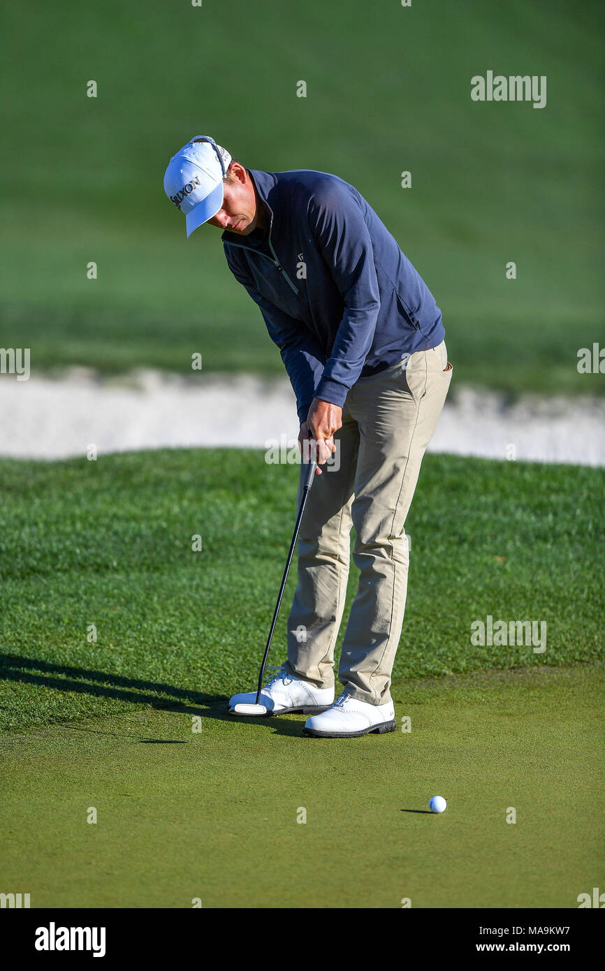 Humble, Texas, USA. 30th Mar, 2018. Andrew Putnam during the Houston Open at the Golf Club of Houston in Humble, Texas. Chris Brown/CSM/Alamy Live News Stock Photo