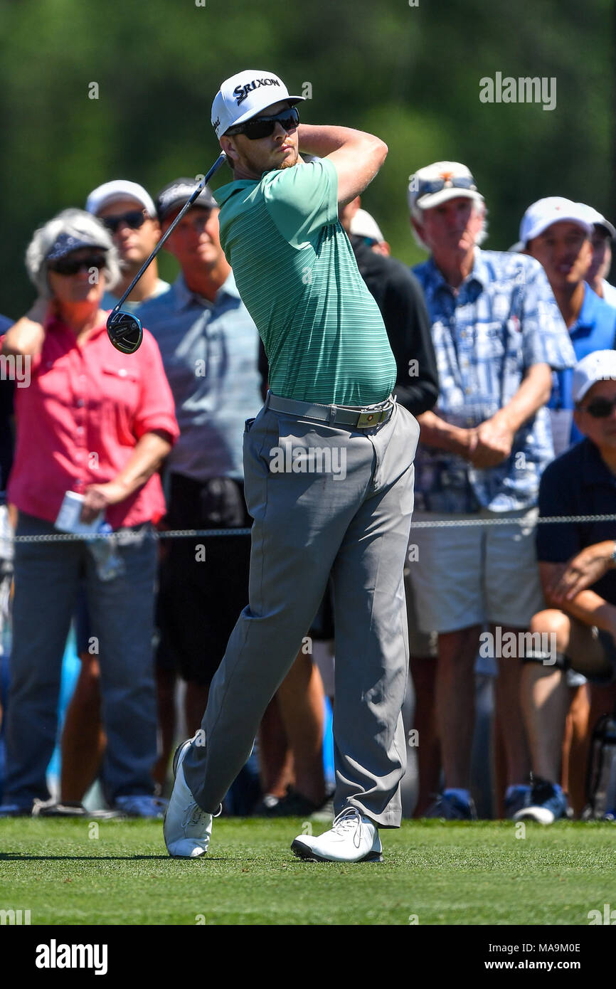 Humble, Texas, USA. 30th Mar, 2018. Chris Stroud in action during the Houston Open at the Golf Club of Houston in Humble, Texas. Chris Brown/CSM/Alamy Live News Stock Photo