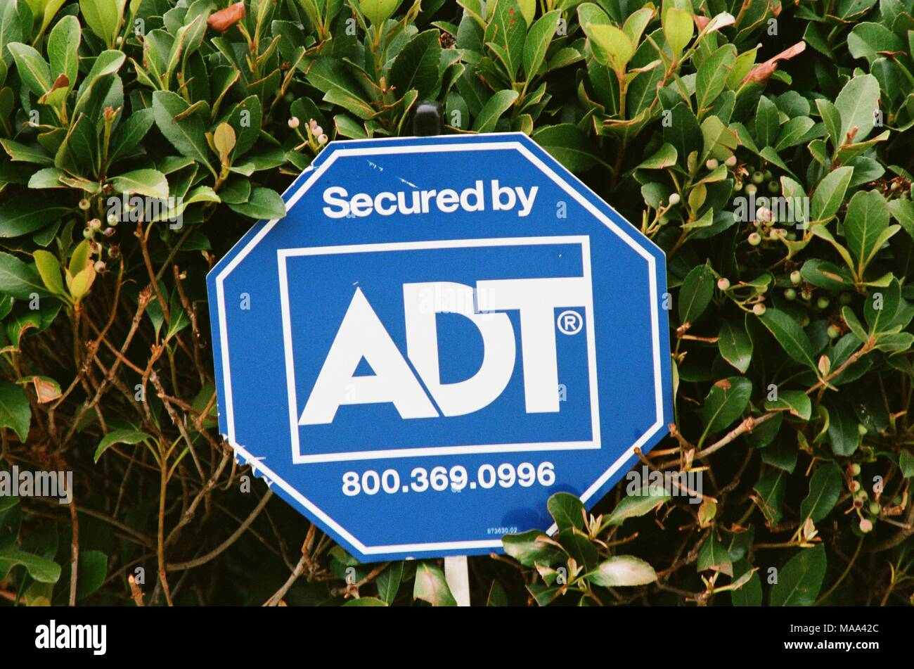 Adt Security Stock Photos Images Alamy Cameras Wiring Diagram Close Up Of Sign With Logo For Corporation A Residential And Business