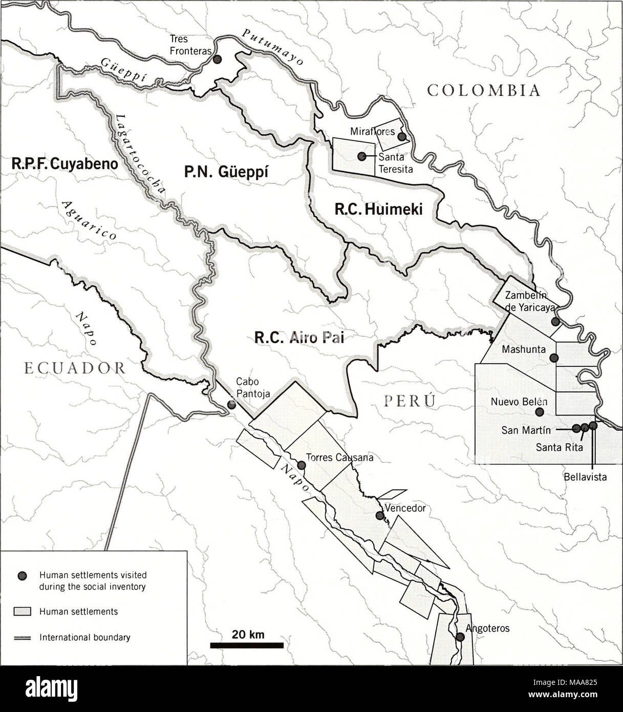 . Ecuador, Perú : Cuyabeno-Güeppí . 236 RAPID BIOLOGICAL AND SOCIAL INVENTORIES INFORME/REPORT NO. 20 - Stock Image