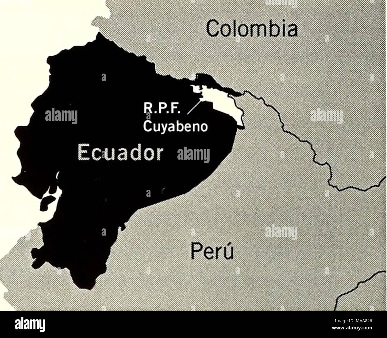 . Ecuador, Perú : Cuyabeno-Güeppí . Los bosques localizados en la remota región de la frontera trinacional de Colombia, Ecuador y Perú figuran entre los más diversos de la tierra. Nuestros descubrimientos sobrepasaron nuestras expectativas y aunque estos resultados aún necesitan ser analizados detalladamente, nos dan una idea sobre la impresionante biodiversidad del área: 1 género de planta y 13 especies (11 plantas, 2 peces) son nuevos para la ciencia. Adicionalmente, 4 géneros de plantas y 22 especies de plantas y peces nunca habían sido registradas para Ecuador. En la página siguiente, pres - Stock Image