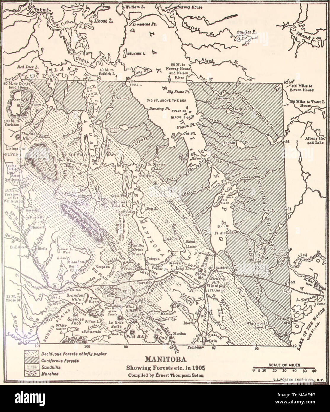Map Of Canada 1905.Ecology Of The Aspen Parkland Of Western Canada In Relation To Land