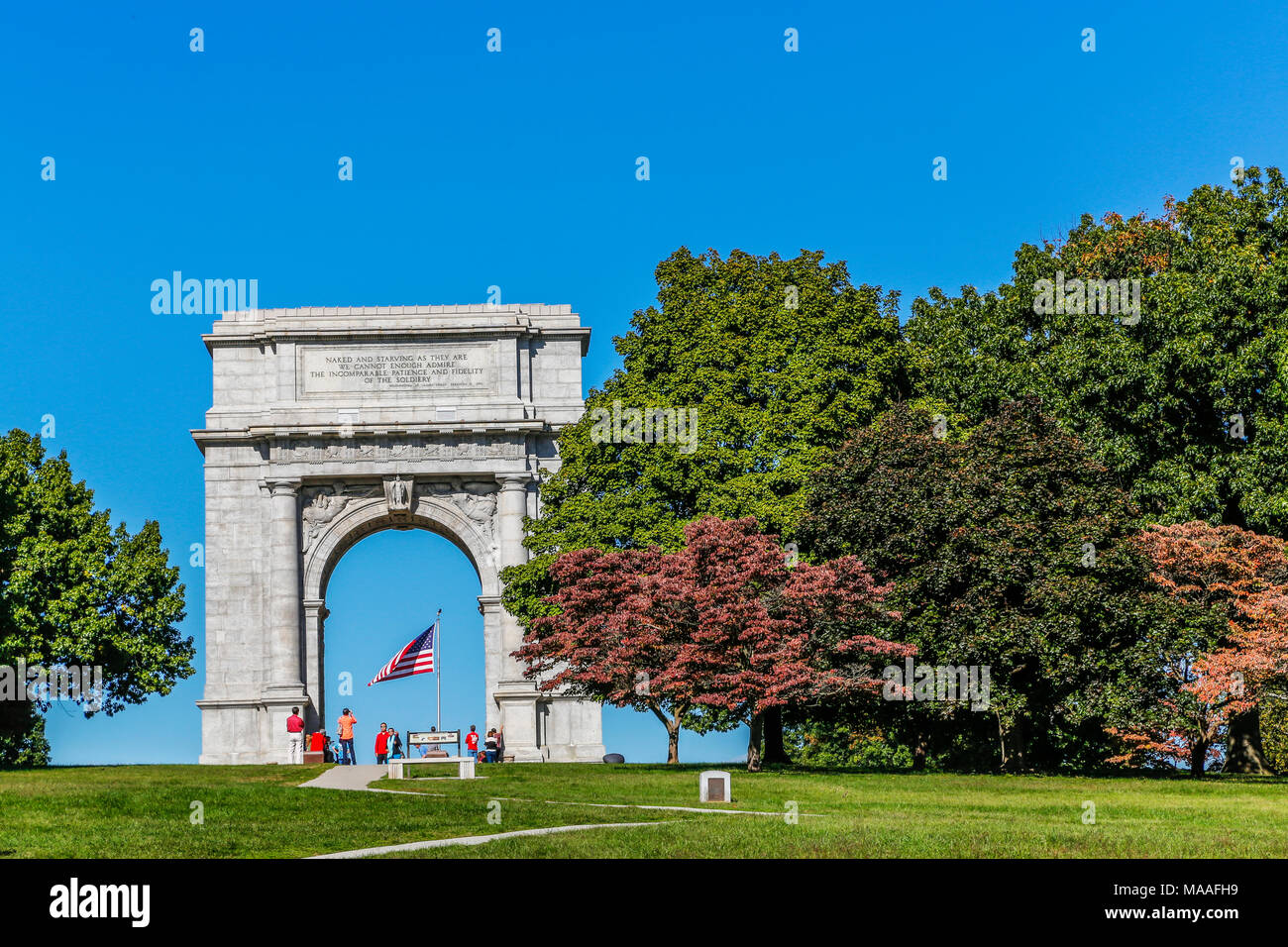 A bold, bright summer\'s day view of the Valley Forge National ...