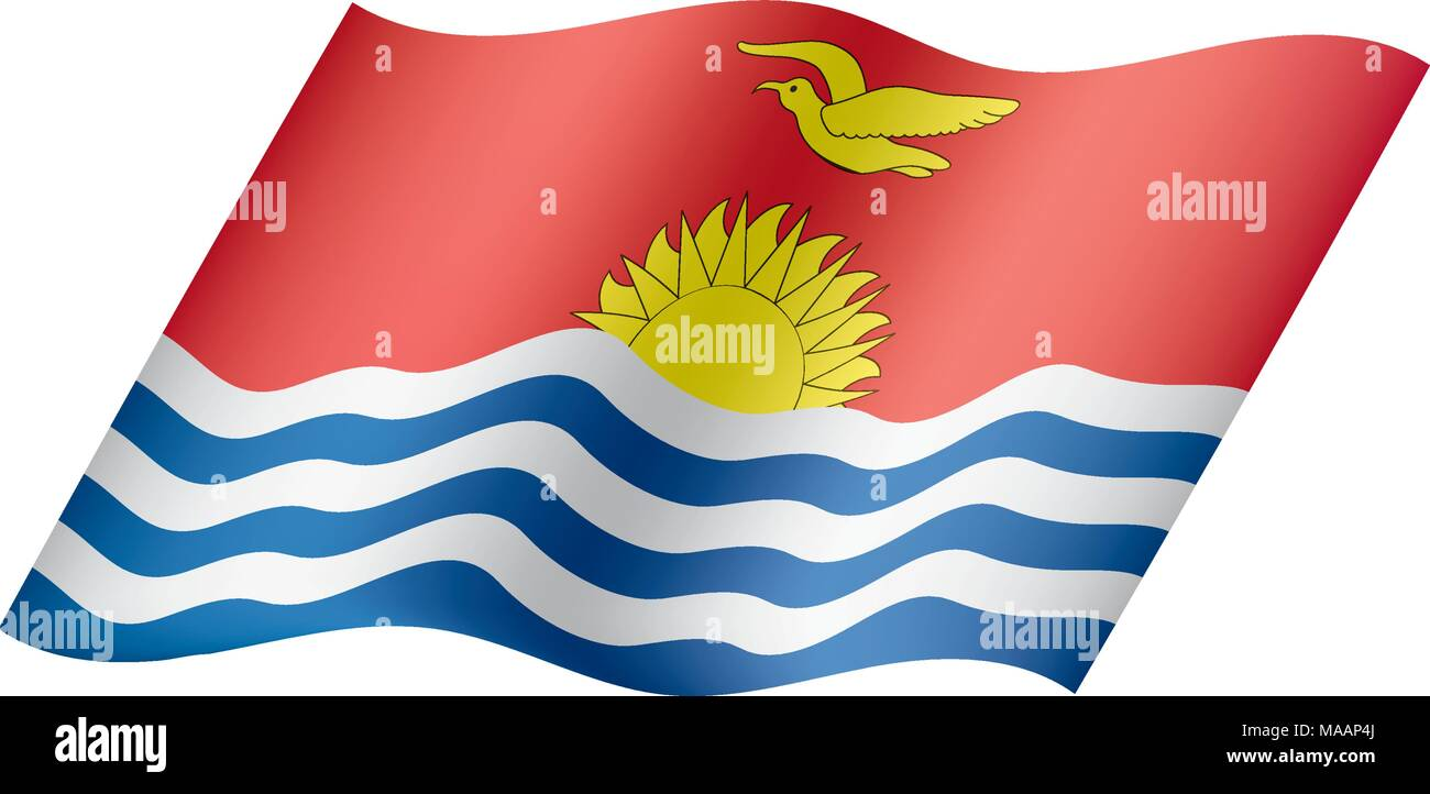 Kiribati flag, vector illustration Stock Vector