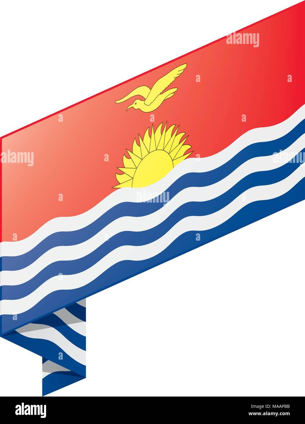 Kiribati flag, vector illustration Stock Vector