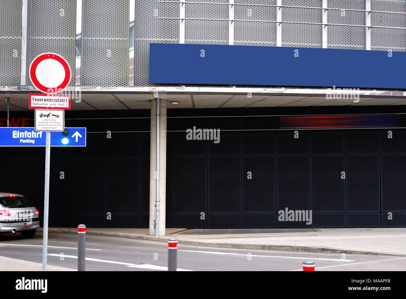 Underground car park entrance stock photos underground for Garage europe auto center fresnes