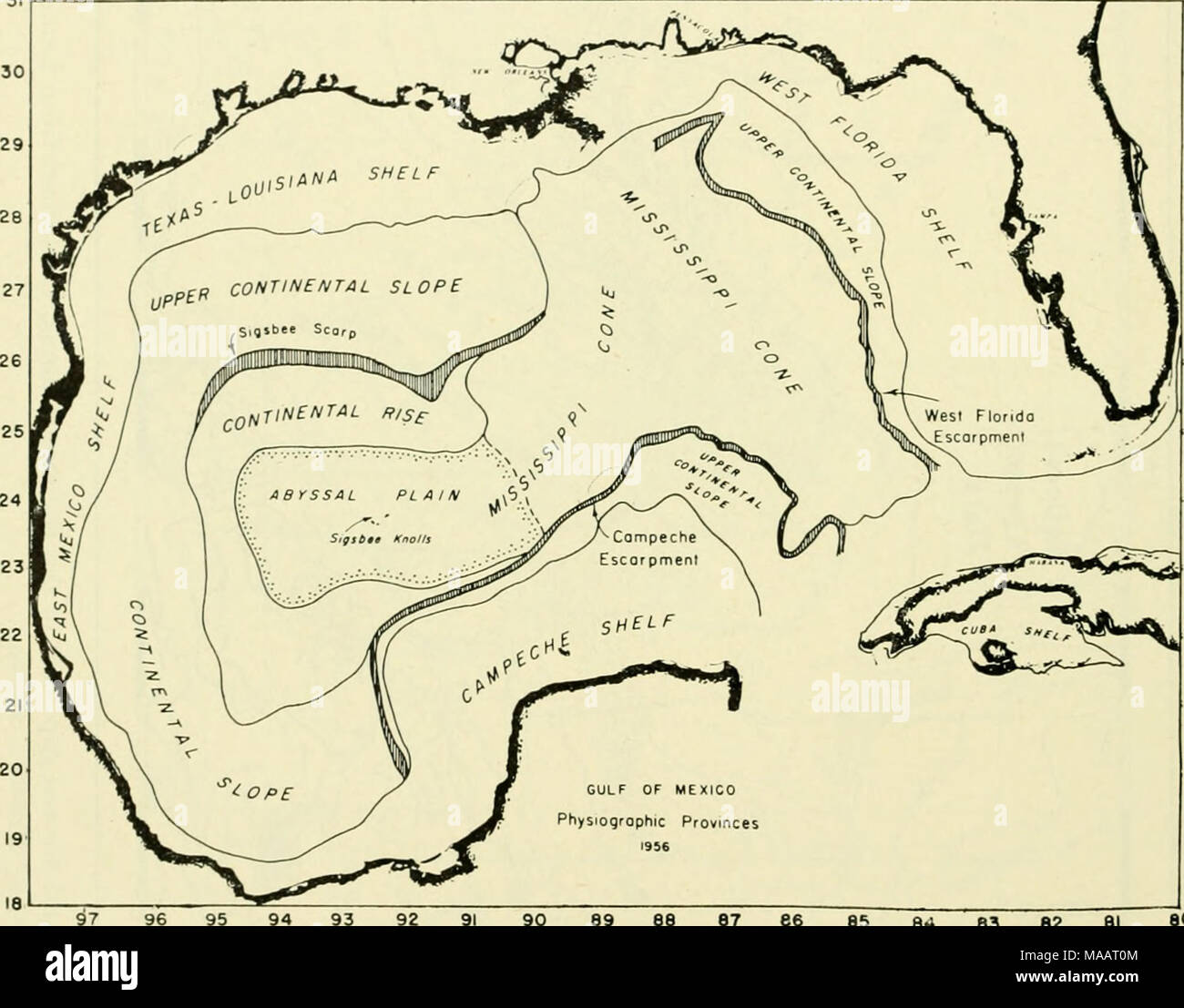 The earth beneath the sea history gulf of mexico physioqrophic the earth beneath the sea history gulf of mexico physioqrophic provinces 96 95 94 93 90 89 88 87 66 85 e i 83 82 81 80 fig 15 physiographic publicscrutiny Images