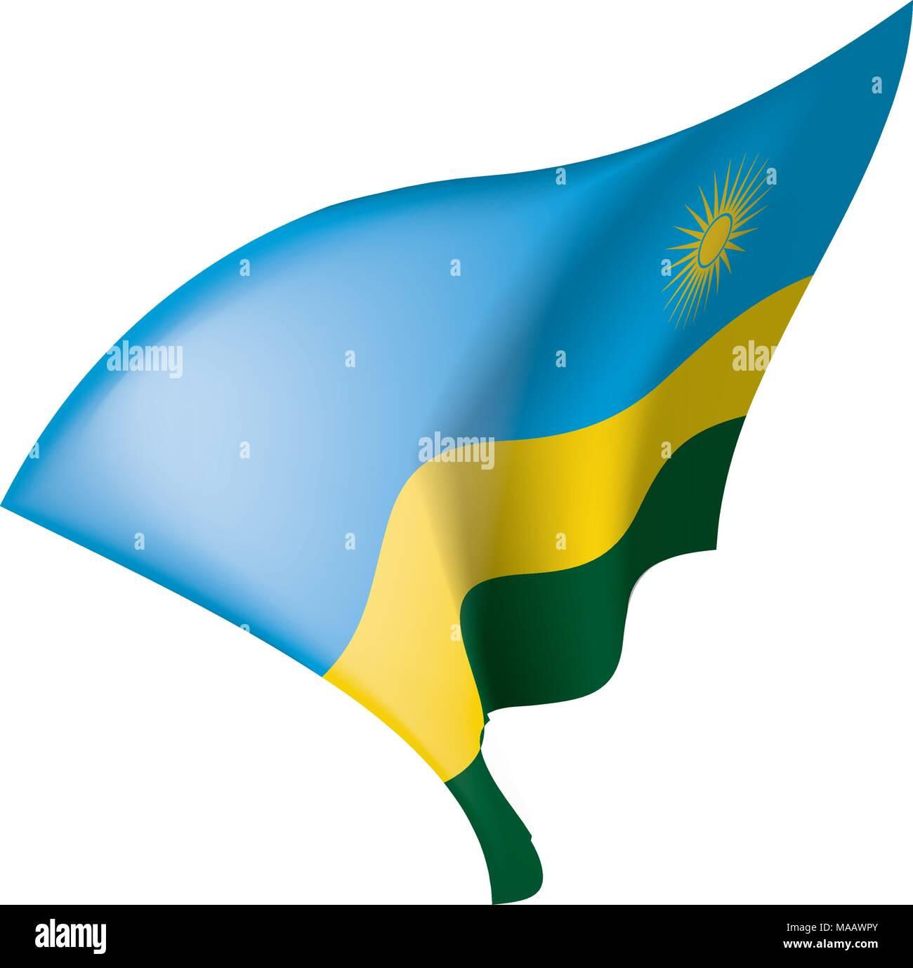 Rwanda flag, vector illustration - Stock Vector
