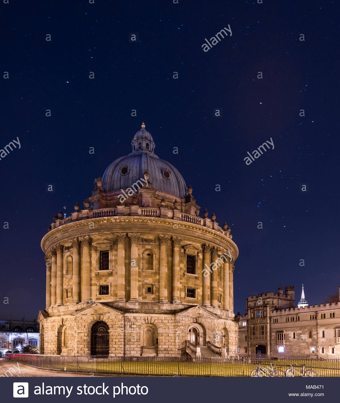 Radcliffe Camera at night, Bodleian Library, Oxford UK - Stock Image