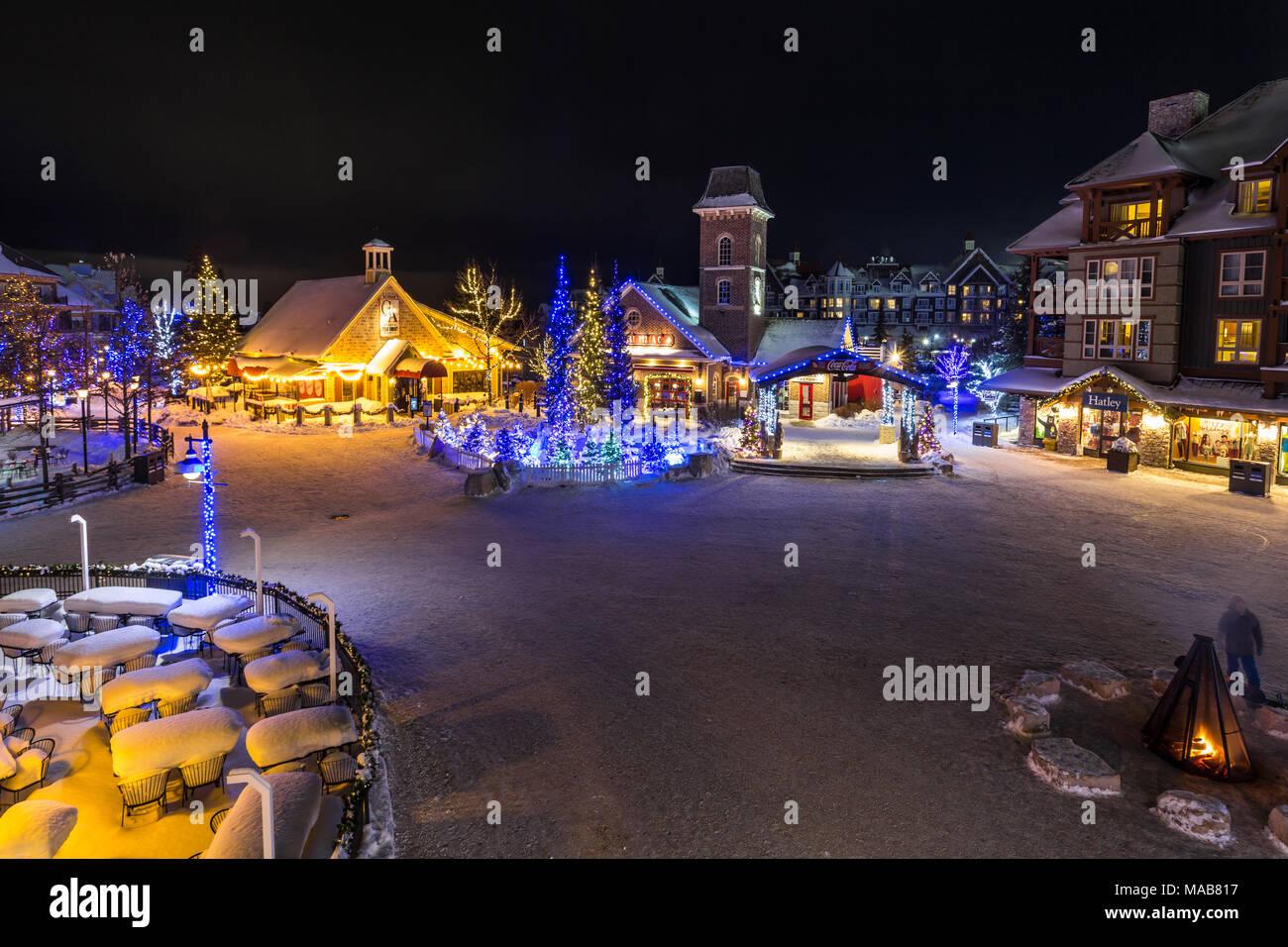 Blue Mountain Village, Blue Mountain Resort, Collingwood, Ontario, Canada Stock Photo