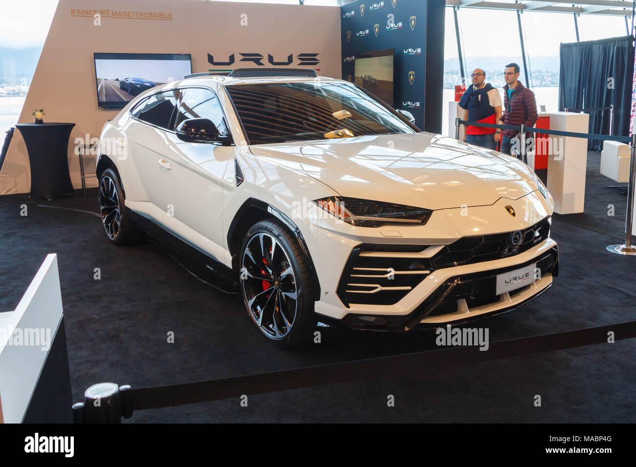 Vancouver Canada March 2018 Lamborghini Urus Taken At 2018